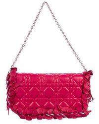 Dior - Cannage Mini Bag Magenta - Lyst
