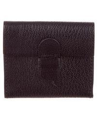 Delvaux - Leather Mini Photo Holder Black - Lyst