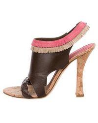 Philosophy di Alberta Ferretti - Leather Slingback Sandals - Lyst