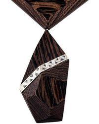 Kara Ross - Diamond & Ebony Collar Necklace Silver - Lyst