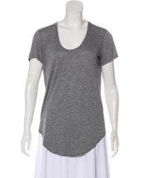 Helmut Lang - Scoop Neck Short Sleeve Top Grey - Lyst