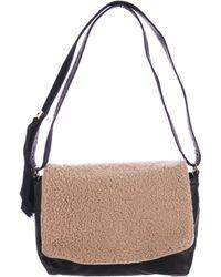 Clare V. - Shearling Shoulder Bag Black - Lyst