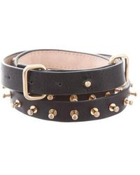 By Malene Birger - Leather Embellished Belt W/ Tags Black - Lyst