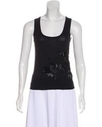 Christian Lacroix - Embellished Silk Top - Lyst