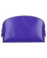 Louis Vuitton - Epi Cosmetic Pouch Silver - Lyst