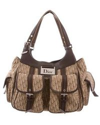 Dior - Leather-trimmed Diorissimo Bag Brown - Lyst
