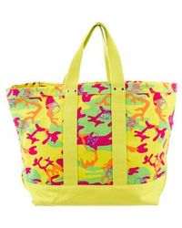 Lucien Pellat Finet - Camouflage Skull Tote Yellow - Lyst