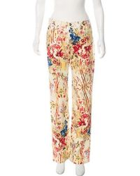 Just Cavalli - Mid-rise Floral Jeans Tan - Lyst
