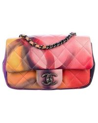 fb44446af7cb Chanel Mini Flower Power Clic Flap Bag W S Pink Lyst. Lyst Chanel Mini  Flower Power Extra Flap Bag In Pink