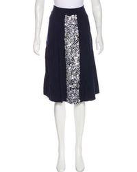 Giulietta - Embellished A-line Skirt Navy - Lyst