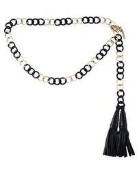 Michael Kors - Chain-link Waist Belt Black - Lyst
