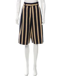 Dries Van Noten - Striped Wool Shorts Navy - Lyst