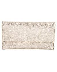 Loeffler Randall - Leather Wallet W/ Tags Gold - Lyst