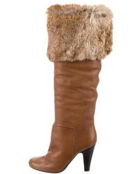 5d9c95799e5 Lyst - Giuseppe Zanotti Leather Knee-high Boots in Brown
