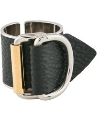 Louis Vuitton - Leather Buckle Ring Gold - Lyst