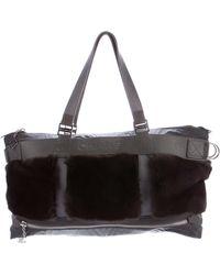 Chanel - Sport Line Fur Tote Grey - Lyst