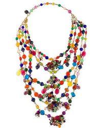 Erickson Beamon - Crystal Multistrand Necklace Gold - Lyst