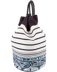 Emilio Pucci - Mixed Print Sling Bag White - Lyst