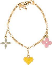 Louis Vuitton - Sweet Monogram Charm Bracelet Gold - Lyst