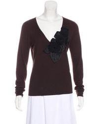 Naeem Khan - Long Sleeve Cashmere Sweater - Lyst