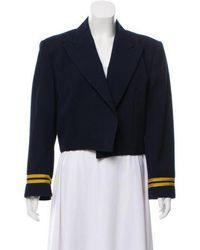 Dior - Cropped Peak-lapel Blazer Navy - Lyst