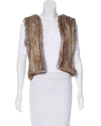 MAX&Co. - Fur-paneled Vest Olive - Lyst