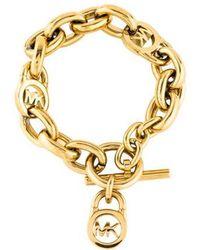 Michael Kors - Heritage Fulton Padlock Link Bracelet Gold - Lyst