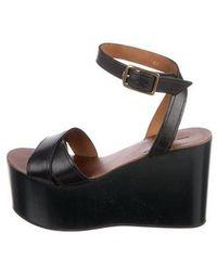 2b11df8c6da Lyst - Isabel Marant Leather Flatform Wedge Sandals in Black