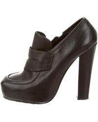 Proenza Schouler - Leather Round-toe Booties - Lyst