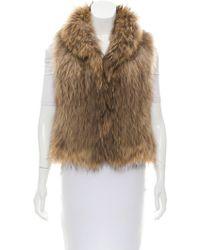 Yves Salomon - Knitted Fur Vest Tan - Lyst