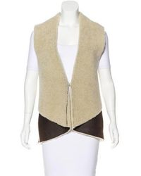 Thakoon - Shearling Belted Vest - Lyst