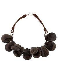 Brunello Cucinelli - Jasper Bead Strand Necklace Silver - Lyst