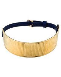 Elie Saab - Wide Textured Choker Gold - Lyst