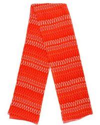 Thakoon - Silk-blend Tie-dye Scarf Orange - Lyst