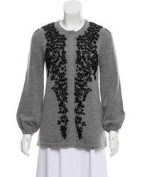 Co. - Embellished Wool & Cashmere Cardigan W/ Tags Grey - Lyst