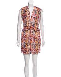 IRO - Printed Mini Dress Violet - Lyst
