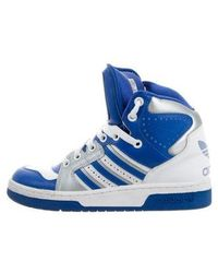 Jeremy Scott for adidas - Leather High-top Sneakers White - Lyst