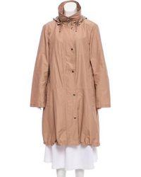 Akris Punto - Hooded Knee-length Coat Khaki - Lyst