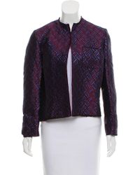Golden Goose Deluxe Brand - Open-front Brocade Jacket Blue - Lyst