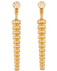 Melissa Kaye - 18k Diamond Drop Earrings Yellow - Lyst