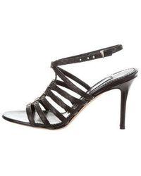Prabal Gurung - Multistrap Leather Sandals Black - Lyst