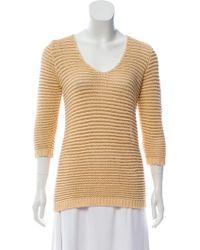 Torn By Ronny Kobo - Metallic Knit Sweater Tan - Lyst