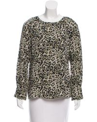 Derek Lam - Leopard Print Long Sleeve Blouse W/ Tags - Lyst