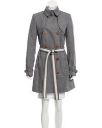 Stella McCartney - Double-breasted Short Coat Navy - Lyst
