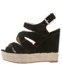 Kors by Michael Kors - Kors By Michael Ankle Strap Cutout Wedges - Lyst