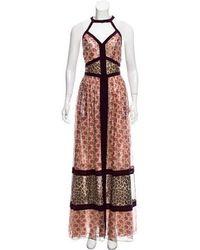 Tamara Mellon - Sleeveless Pattern Maxi Dress W/ Tags Multicolor - Lyst