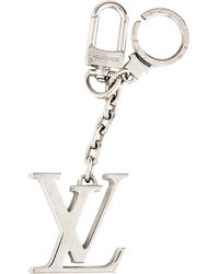 Louis Vuitton - Initiales Key Holder Keychain Silver - Lyst