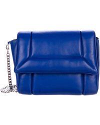 Julien David - Leather Flap Chain-link Shoulder Bag Blue - Lyst