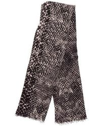 By Malene Birger - Woven Printed Scarf Black - Lyst
