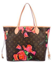 Louis Vuitton - Roses Neverfull Mm Brown - Lyst